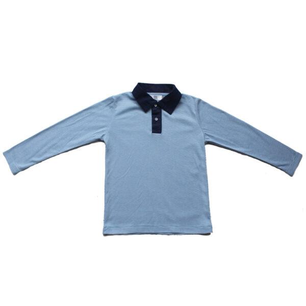 Stripes Polo Neck T-Shirt