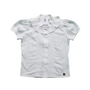 Blusa con bobos blanca
