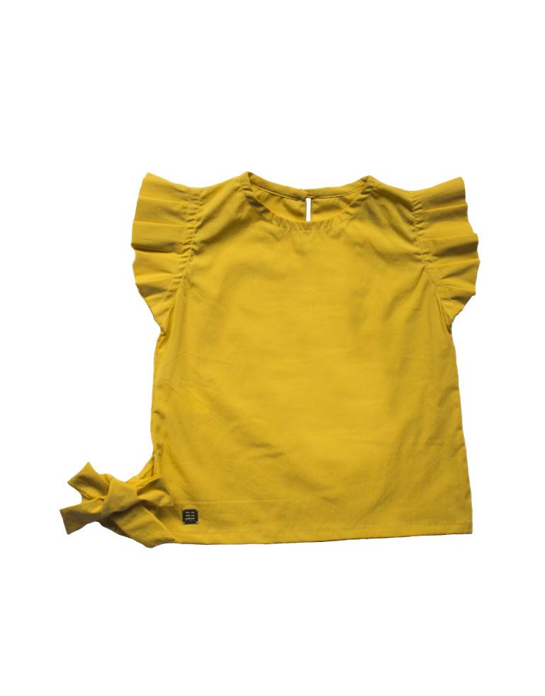 Blusa-con-bobos-en-manga-Amarilla