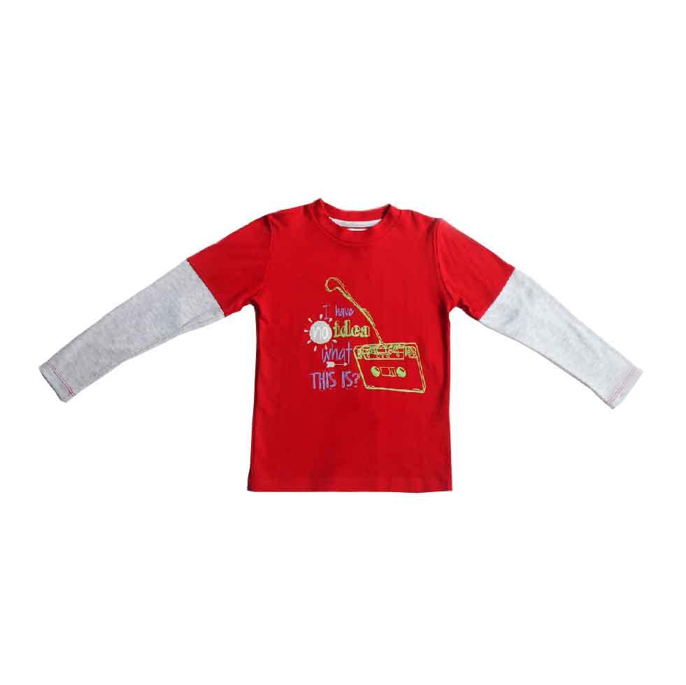 Double Sleeve T-Shirt Fondo Transparente