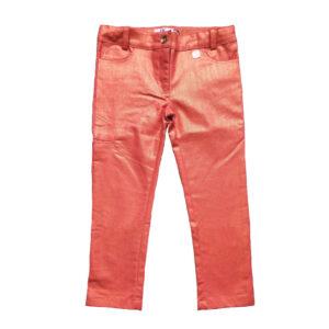 Pantalon metalizado coral