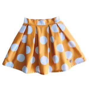 Falda amarilla con lunares