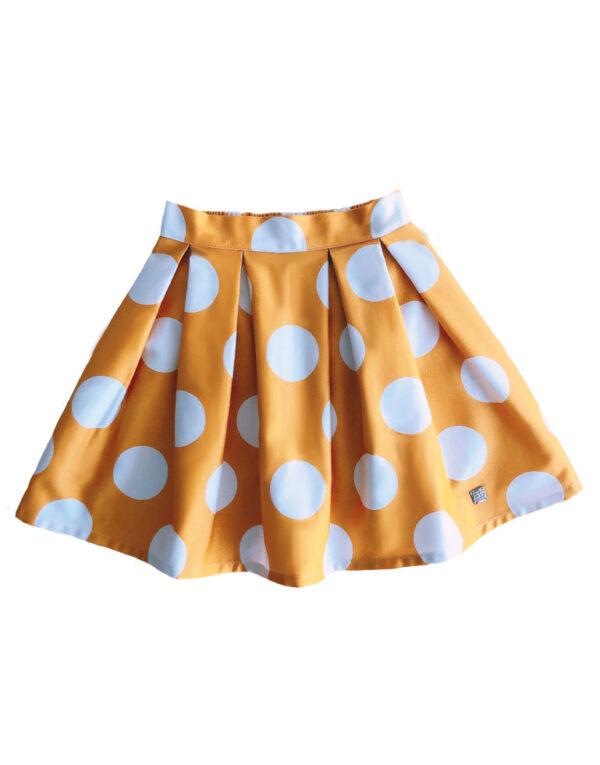 Falda-amarilla-con-lunares